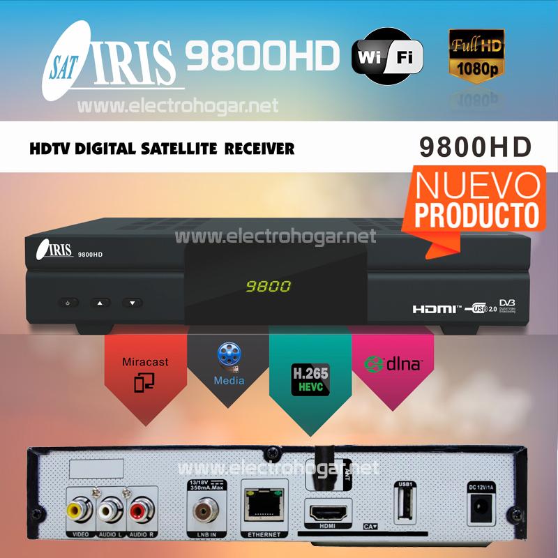 Imagen de Receptor satélite IRIS 9800HD FullHD HDMI