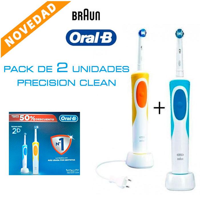 Imagen de Pack de dos cepillos eléctricos Oral-B Vitality Precision Clean