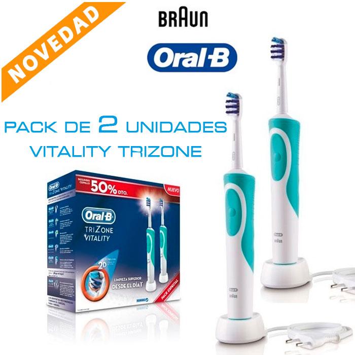 Imagen de Pack de dos cepillos eléctricos Oral-B Vitality TriZone