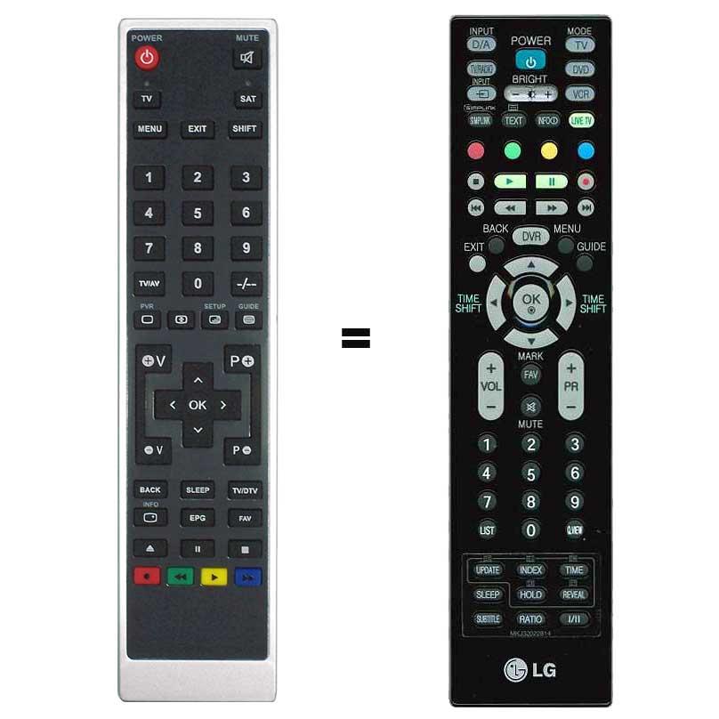Imagen de Mando a distancia sustituto LG MKJ32022814 para TV con Disco duro