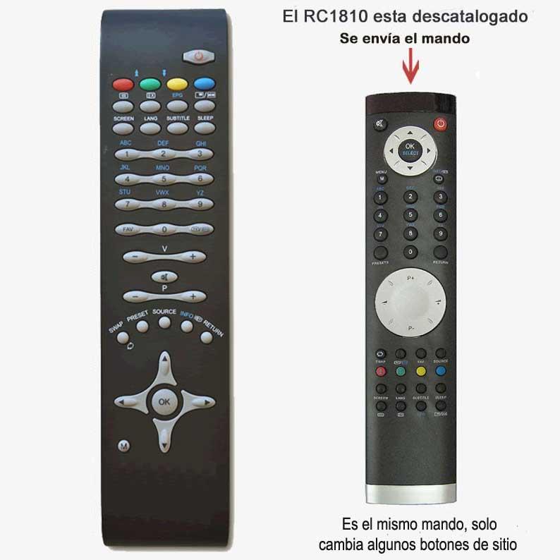 Imagen de Mando a distancia RC1810 repuesto original para OKI, Telefunken, ...