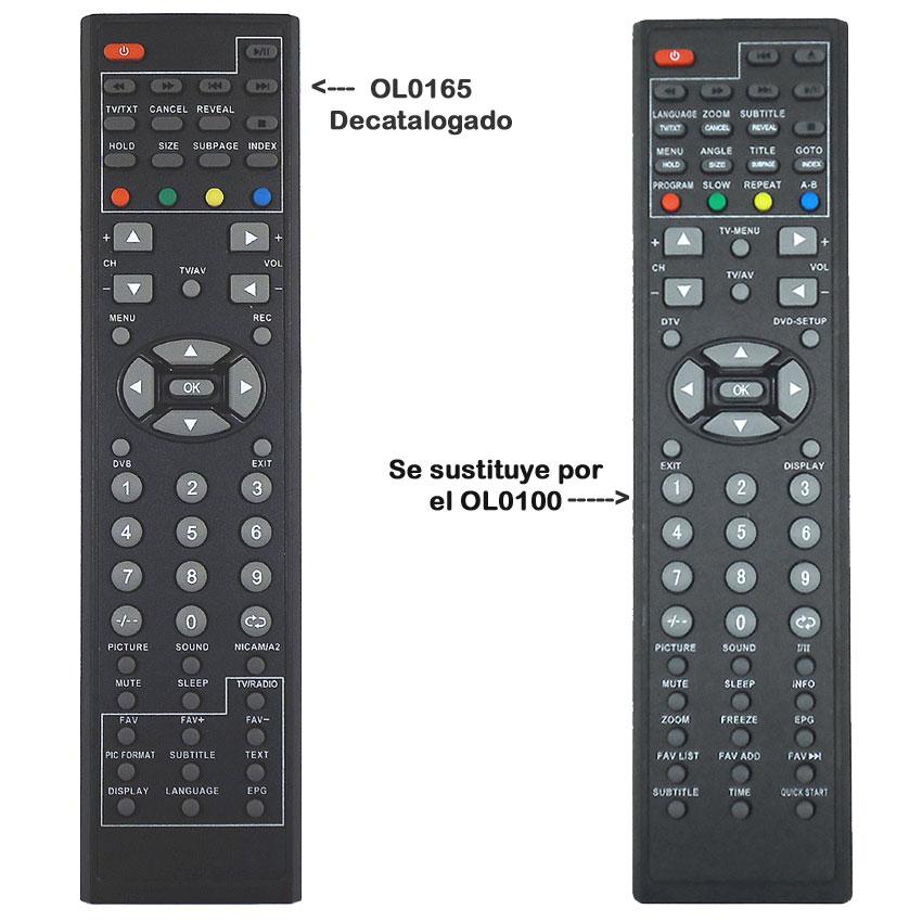 Imagen de Mando a distancia original OL0165, sustituido por el OL0100