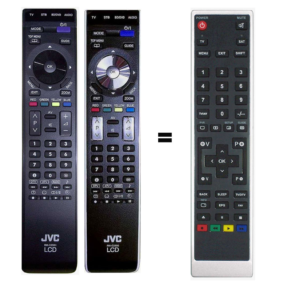 Imagen de Mando a distancia sustituto del JVC RM-C2500 y JVC RM-C2501