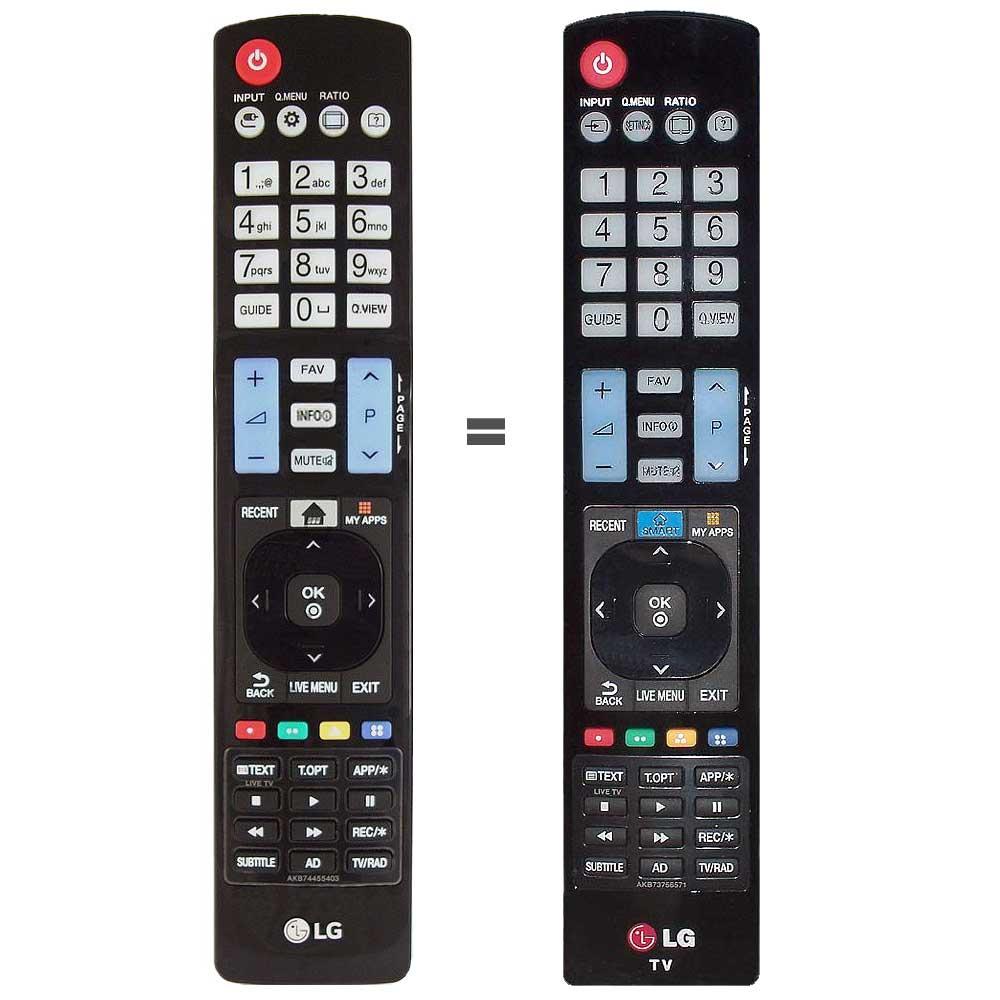 Imagen de Mando a distancia LG AKB74455401 igual al AKB73756580, AKB73756571,
