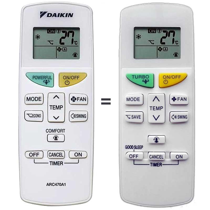 Imagen de Mando a distancia para aire acondicionado Daikin ARC470A1 y ARC470A11