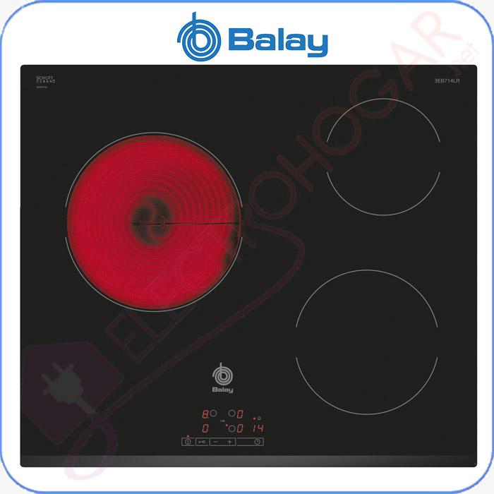 Imagen de Encimera vitrocerámica digital BALAY 3EB714LR 3 fuegos bisel frontal