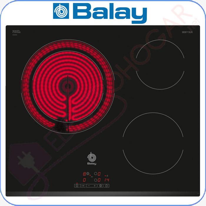 Imagen de Encimera vitrocerámica digital Balay 3EB715LR con cristal delantero bi