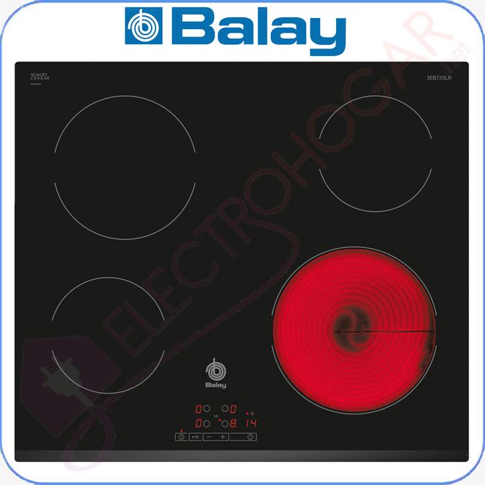 Imagen de Encimera vitrocerámica digital Balay 3EB720LR marco delantero biselado