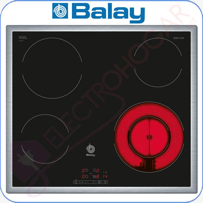 Imagen de Encimera vitrocerámica digital Balay 3EB721XR con marco de acero inoxi