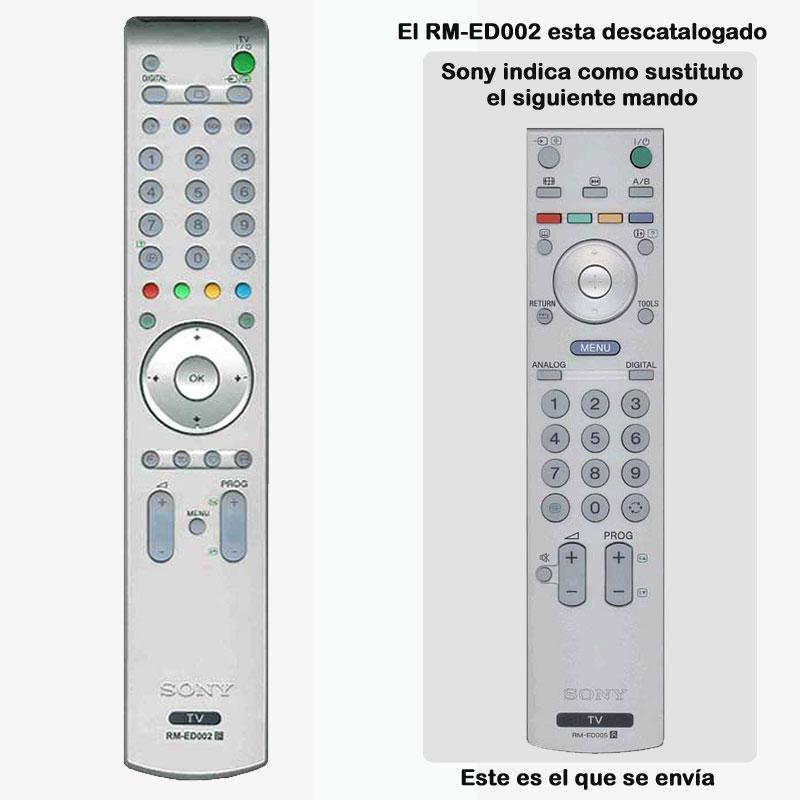 Imagen de Mando a distancia original Sony RM-ED002 sustituido por RM-ED005