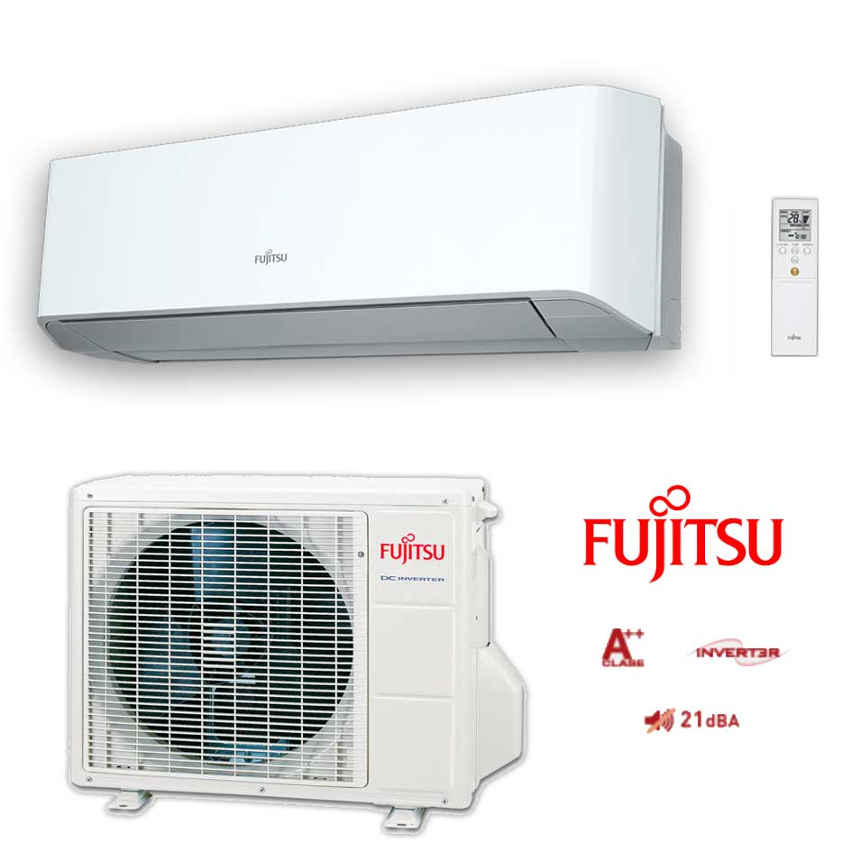 Imagen de Aire acondicionado Fujitsu ASY 35UI-LMC 3.010Frig. 3.440Kcal, A++ A+