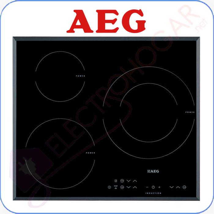 Imagen de Encimera Inducción AEG HK633220FB, 3 zonas de cocción, cristal biselad
