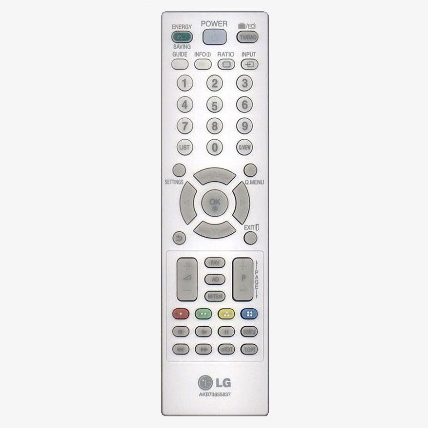 Mando a distancia original LG AKB73655837 color blanco.