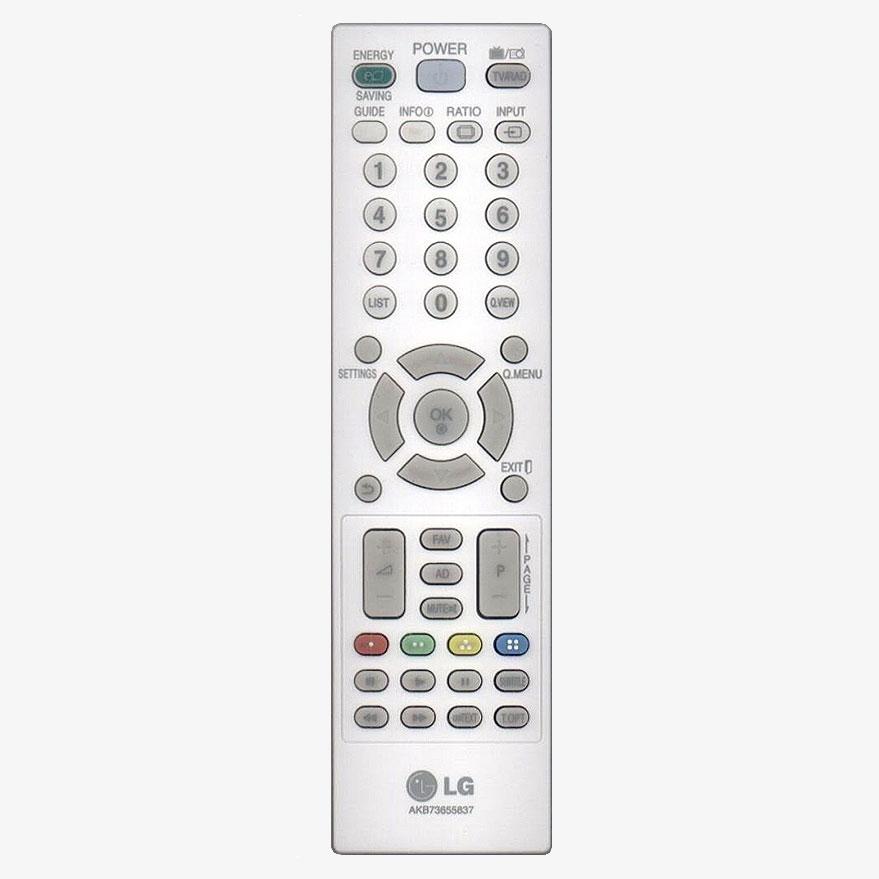 Imagen de Mando a distancia original LG AKB73655837 color blanco.