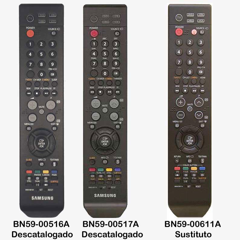 Imagen de Mando BN59-00516A y BN59-00517A descatalogados sustituto BN59-00611A
