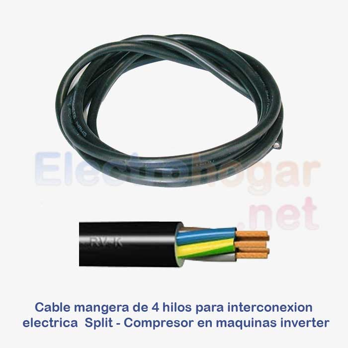 Imagen de Cable de 4mtr. para conexión Split - Compresor, 4 hilos de 1.5mm