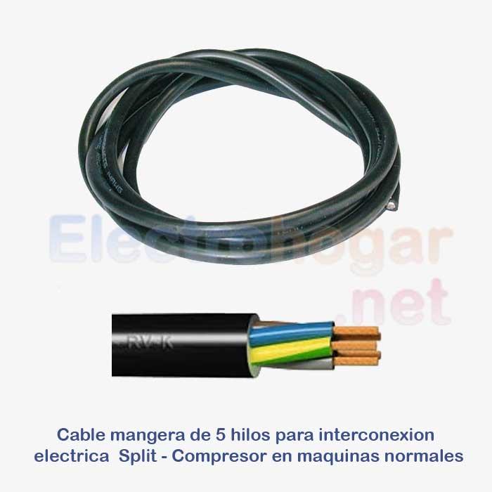 Imagen de Cable de 4mtr. para conexión Split - Compresor, 5 hilos de 1.5mm