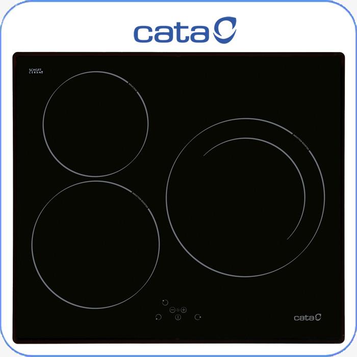 Imagen de Encimera inducción digital Cata IB603BK 3 zonas, sistema booster, touc