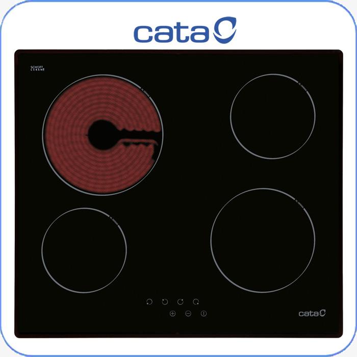 Imagen de Encimera vitrocerámica digital Cata T604 4 zonas de cocción, touch con