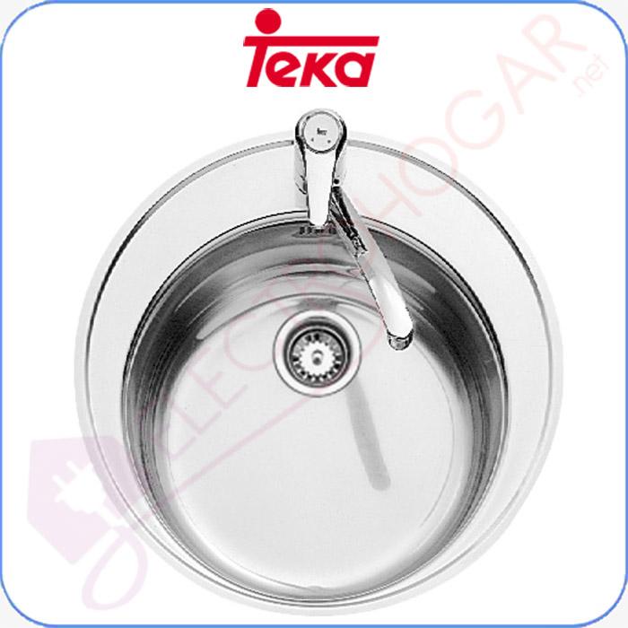 Imagen de Fregadero Teka Centroval 1C Acero inoxidable 18/10, profundidad 180mm,