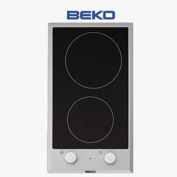 Imagen de Encimera vitrocerámica BEKO HDCC32200X, 2 zonas de cocción, marco inox