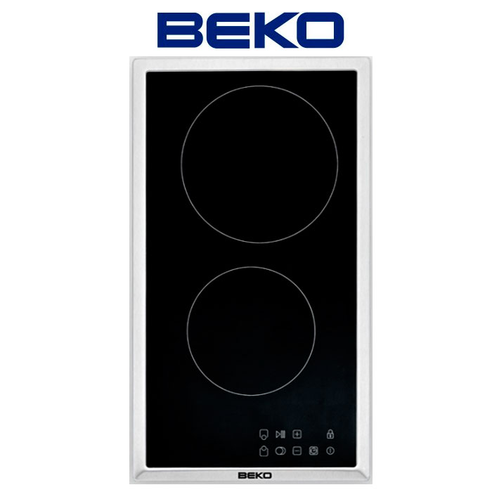 Imagen de Encimera vitrocerámica BEKO HDMC 32400 TX 2 fuegos, inox
