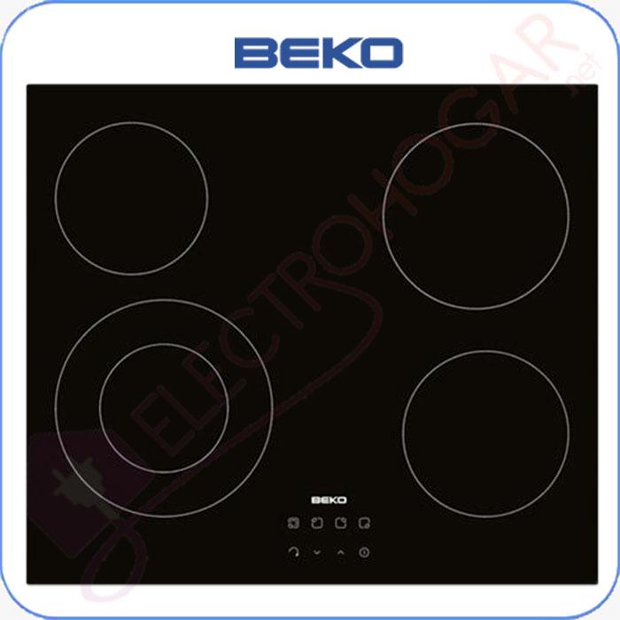 Imagen de Encimera vitrocerámica digital BEKO HIC64402E, 4 zonas de cocción