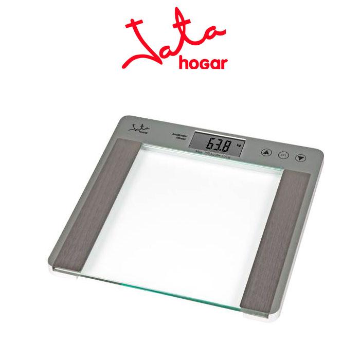 Imagen de Báscula de baño Jata 527N Digital de cristal con analizador fitness