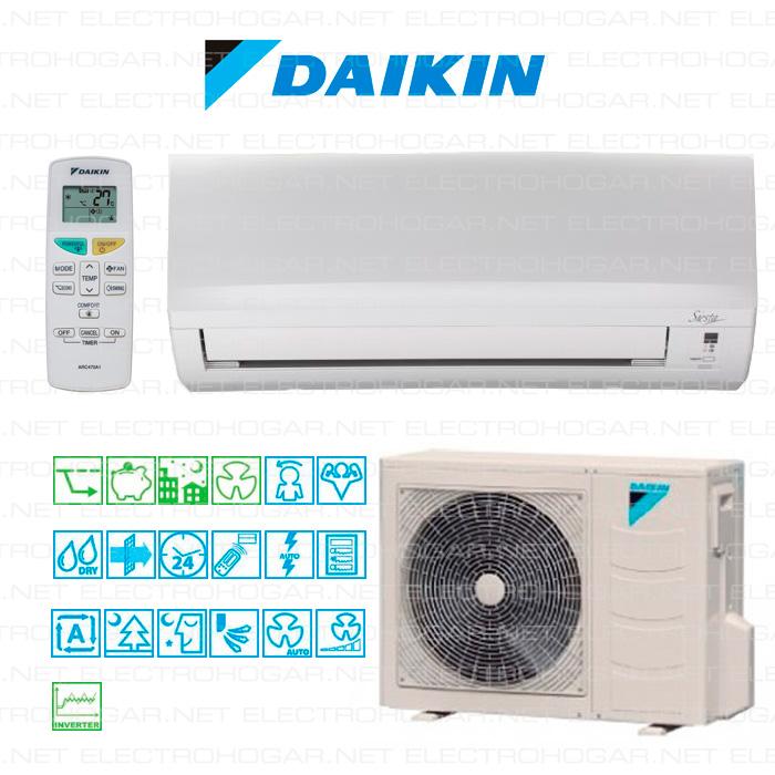 Imagen de Aire acondicionado inverter Daikin AXB50C 4712Frg. / 4833 Kcal. A+