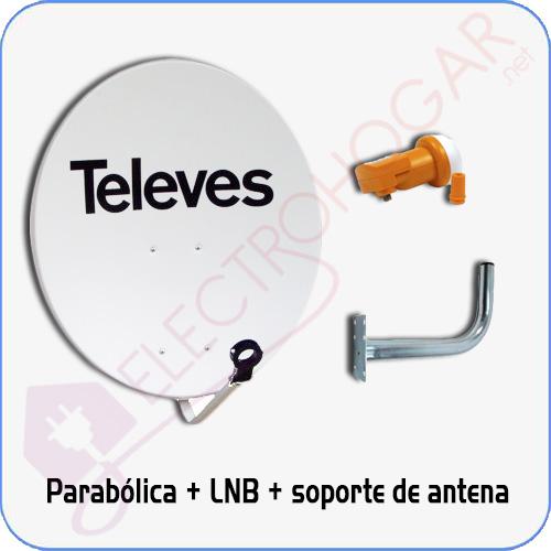 Imagen de Kit Parabólica de 80Cm Televes + LNB Televes + soporte para la pared