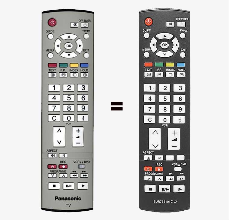 Imagen de Mando a distancia copia idéntica del original Panasonic EUR765101C