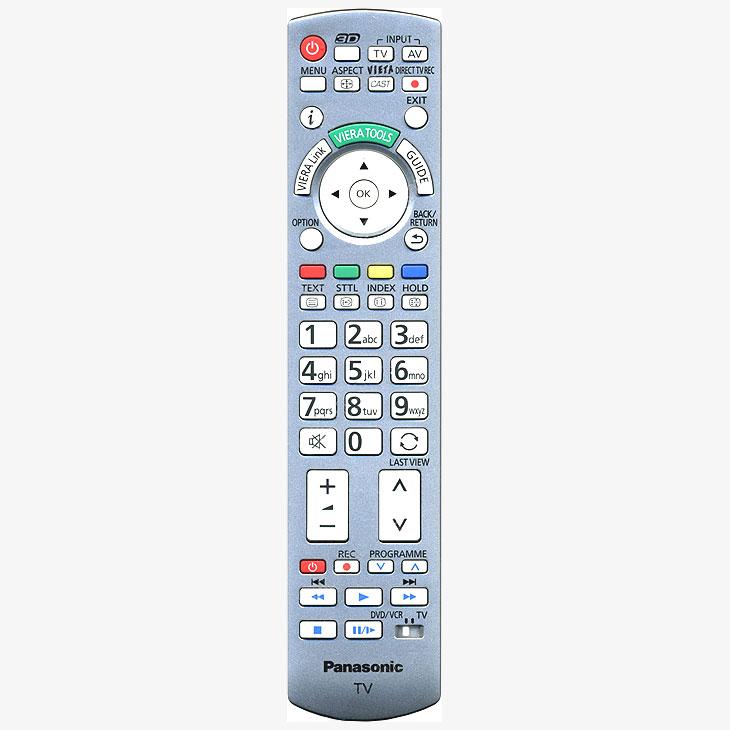 Imagen de Mando a distancia original Panasonic N2QAYB000572 con función 3D