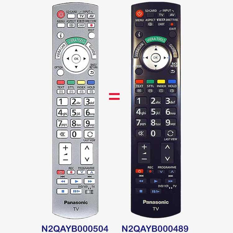 Imagen de Mando a distancia Panasonic N2QAYB000489 igual al N2QAYB000504