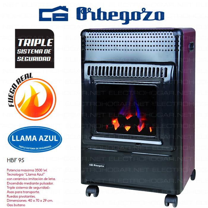 Imagen de Estufa catalítica Orbegozo HBF-95 llama azul 3500W Butano