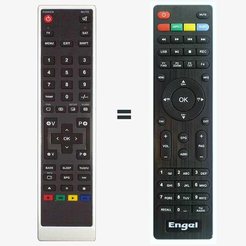 Imagen de Mando a distancia sustituto para Engel RS4800HD / RS4800S