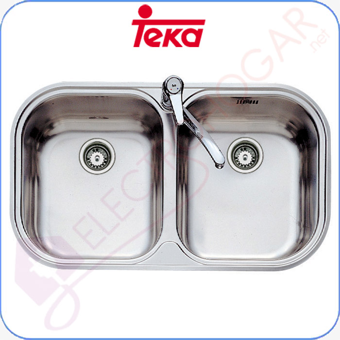 Imagen de Fregadero Teka Stylo 2C, Acero inoxidable 18/10, profundidad 170mm, mu