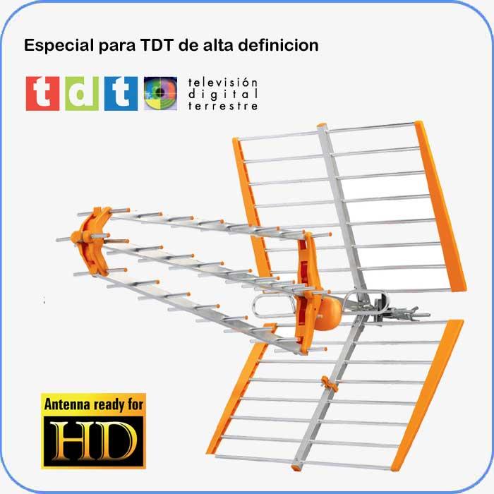 Imagen de Antena SMT9000 diseñada para recepción TDT y TDTHD. Alta ganancia