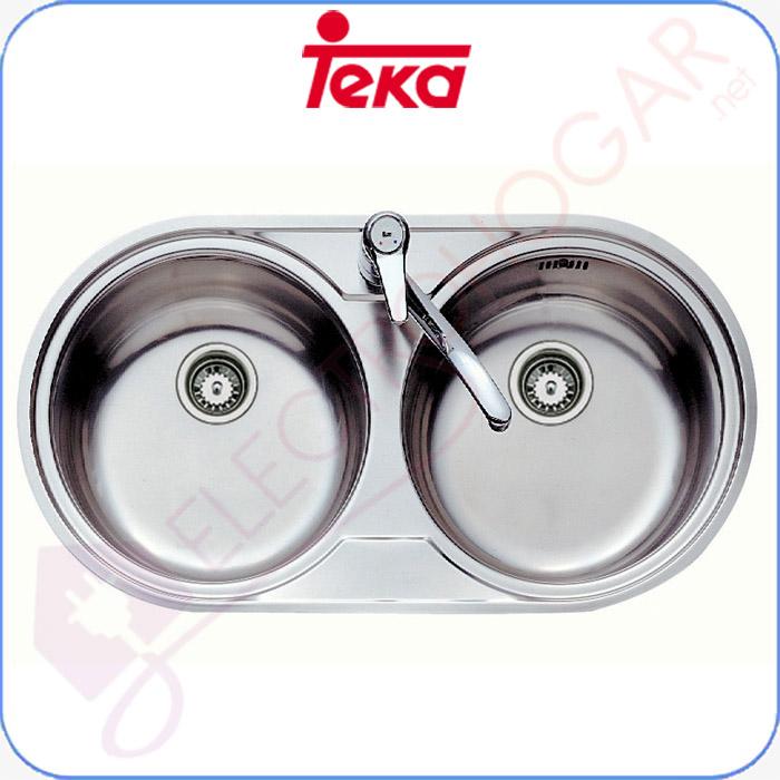 Imagen de Fregadero Teka DR 80 2C, Acero inoxidable, reversible