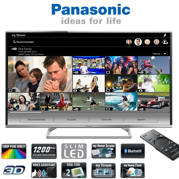 "Pantalla 3D de 55"" Panasonic TX-55AS640E 1200HZ"