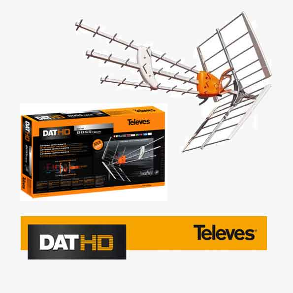 Antena Televes DAT HD ref. 1495 con BOSS-Tech