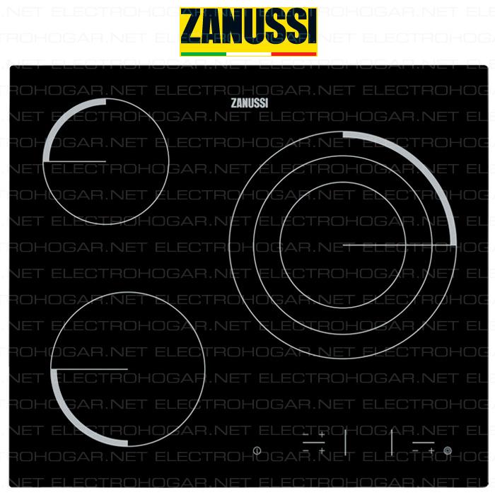 Imagen de Encimera vitrocerámica digital ZANUSSI Z6123IOK 3 zonas
