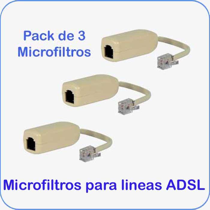 Imagen de Pack de 3 unidades de Microfiltros para lineas ADSL