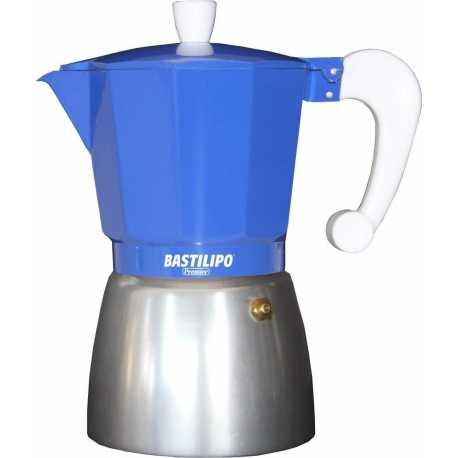 Cafetera de aluminio Bastilipo 6275 de 9 tazas color Azul