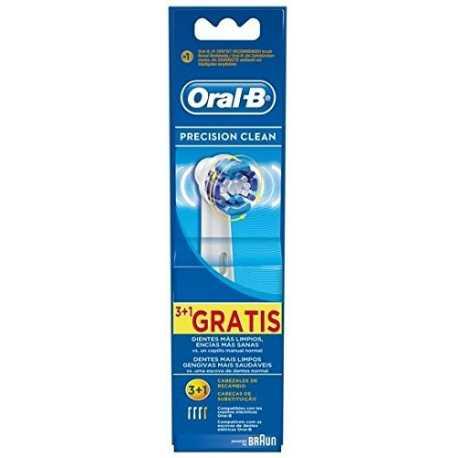 Recambio cepillo eléctrico Braun Oral-B EB20 3+1FFS Precision Clean 4 unidades