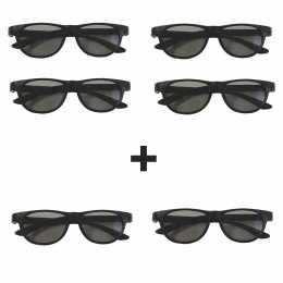 Pack 4 gafas 3D pasivo Philips PTA469 + 2 Gafas DUAL VIEW para juegos.