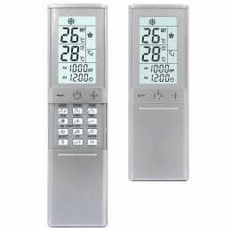 Mando universal para aire acondicionado KT-N898 color plata.