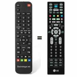 Mando a distancia sustituto LG MKJ32022814 para TV con Disco duro