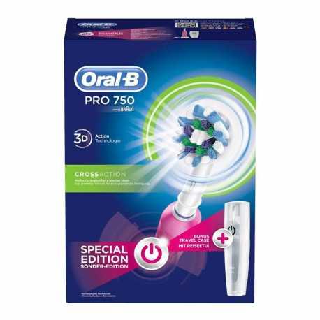 Cepillo dental Oral-B PRO 750 Rosa CrossAction 3D