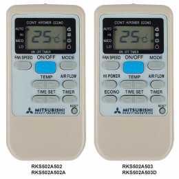 Mando aire Mitsubishi RKS502A503 sustituye al RKS502A502 y RKS502A503D