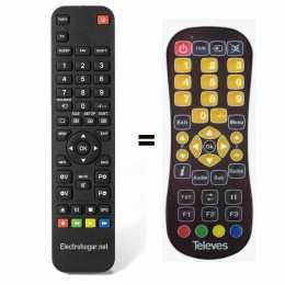 Mando a distancia TDT satélite Televes ZAS DVB S2, 01450007